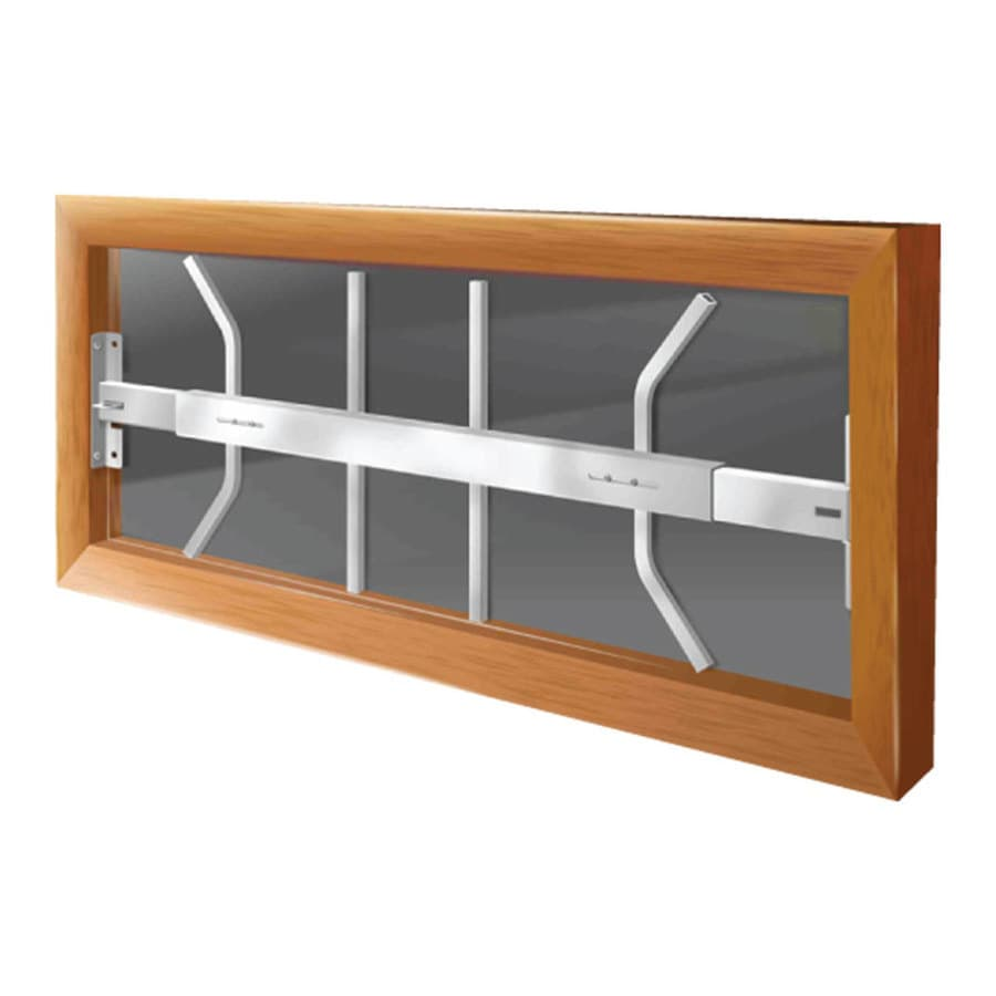 Window Security Bars Lowes >> Shop Mr. Goodbar B 42-in White Swing-Away Window Security ...