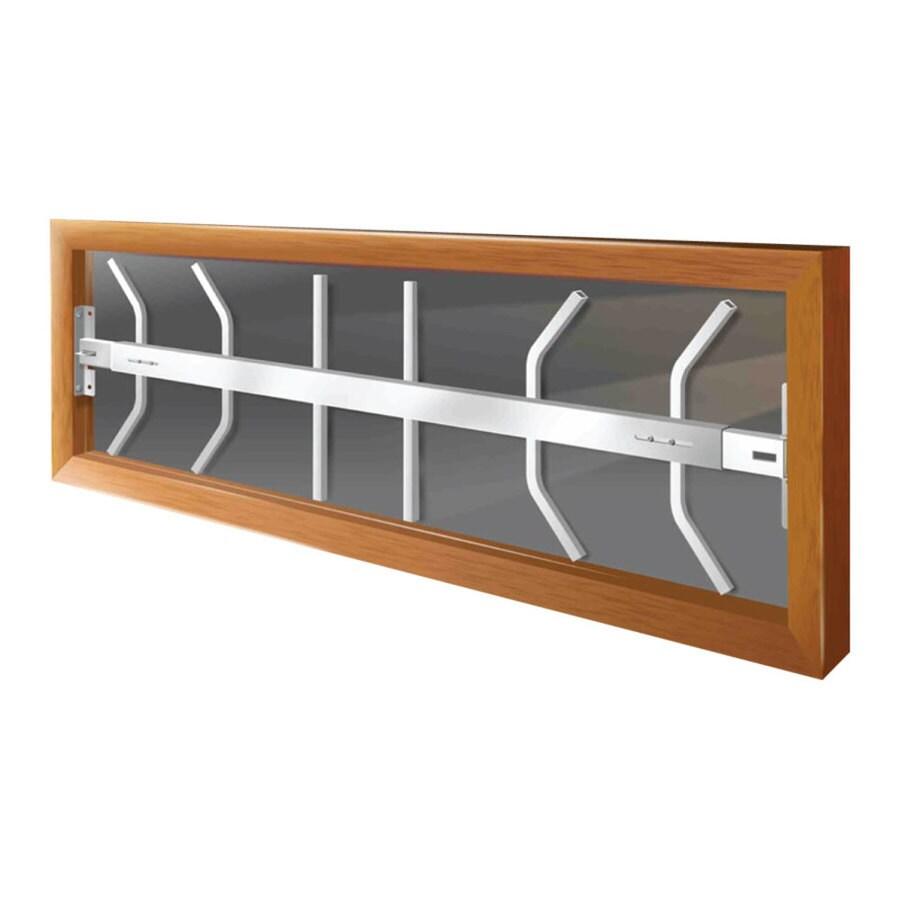 Mr. Goodbar B 54-in White Fixed Window Security Bar