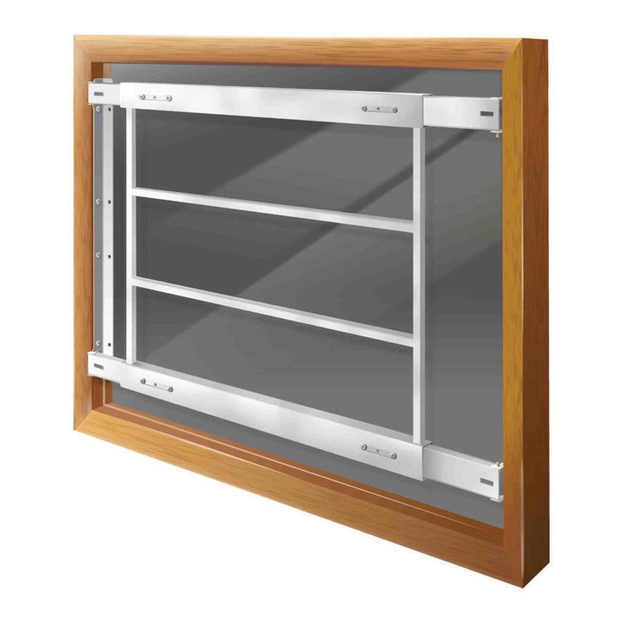 Mr. Goodbar D 29-in x 21-in White Fixed Bar Window Security Bar