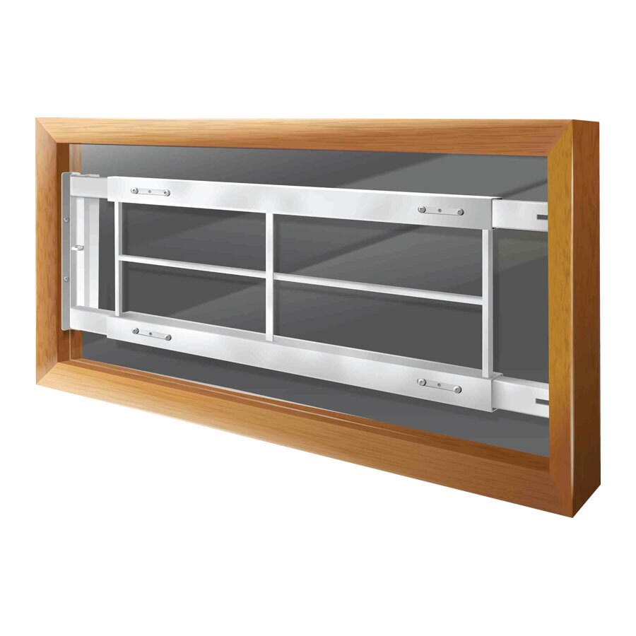 Mr. Goodbar C 64-in White Swing-Away Window Security Bar
