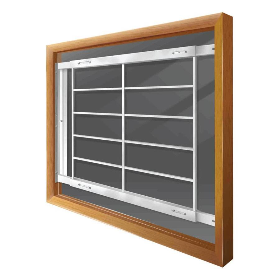 Mr. Goodbar E 74-in White Swing-Away Window Security Bar