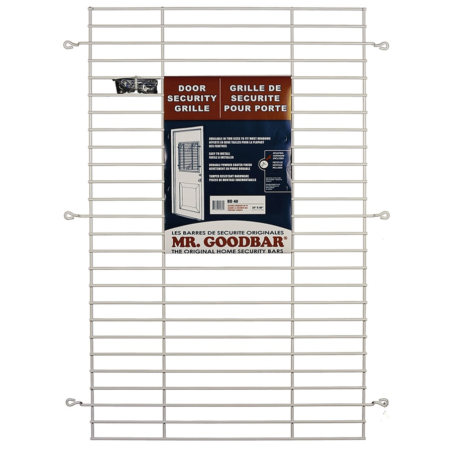 Window Security Bars Lowes >> Shop Mr. Goodbar 27-in x 36-in White Window Security Bar ...