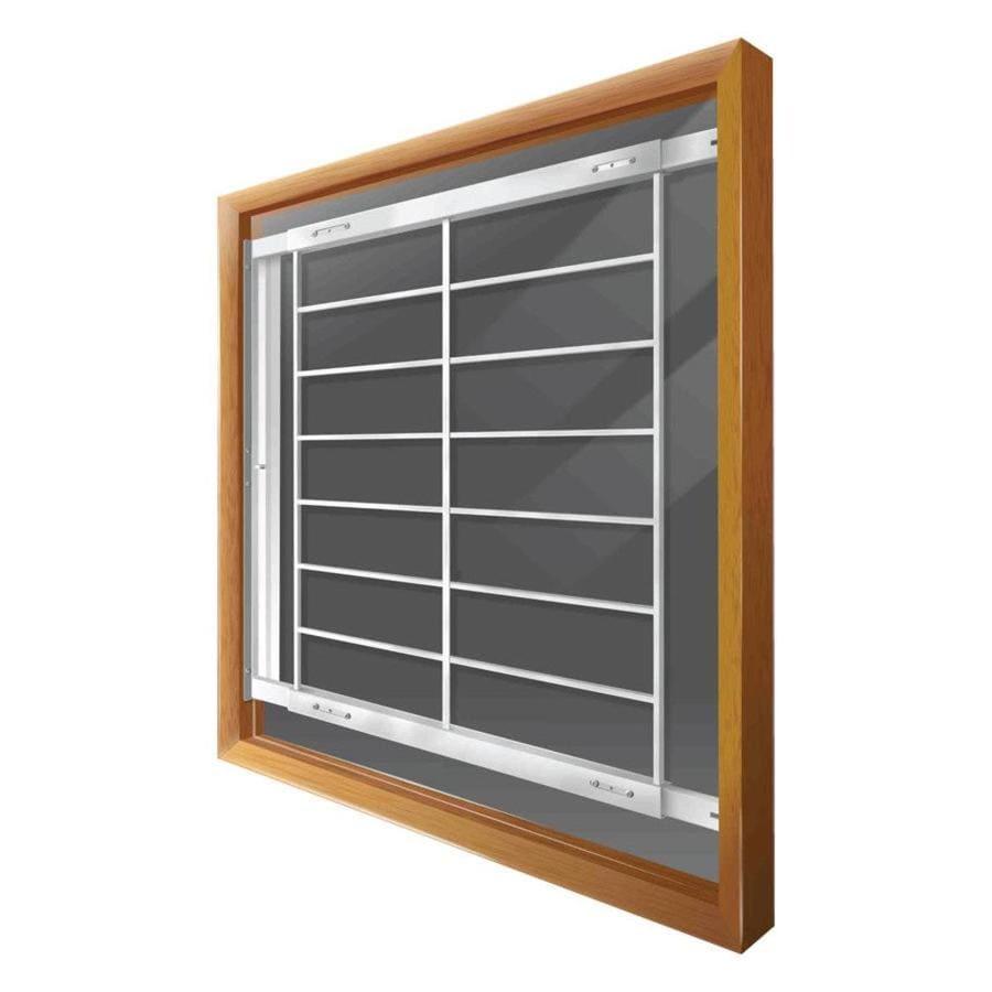 Mr. Goodbar F 62-in x 41-in White Swing-Away Window Security Bar