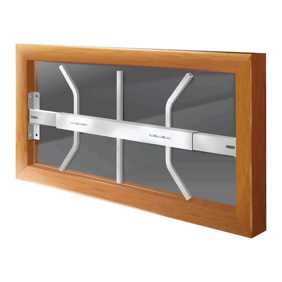 Mr. Goodbar B 28-in White Fixed Window Security Bar