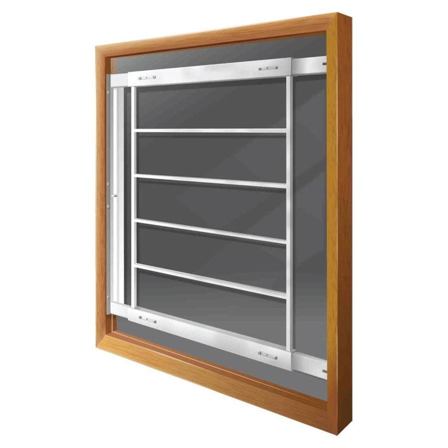 Mr. Goodbar E 28-in White Swing-Away Window Security Bar