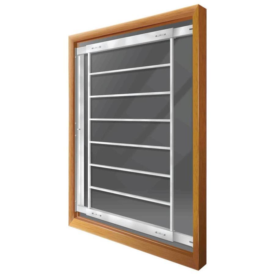Mr. Goodbar F 28-in White Swing-Away Window Security Bar