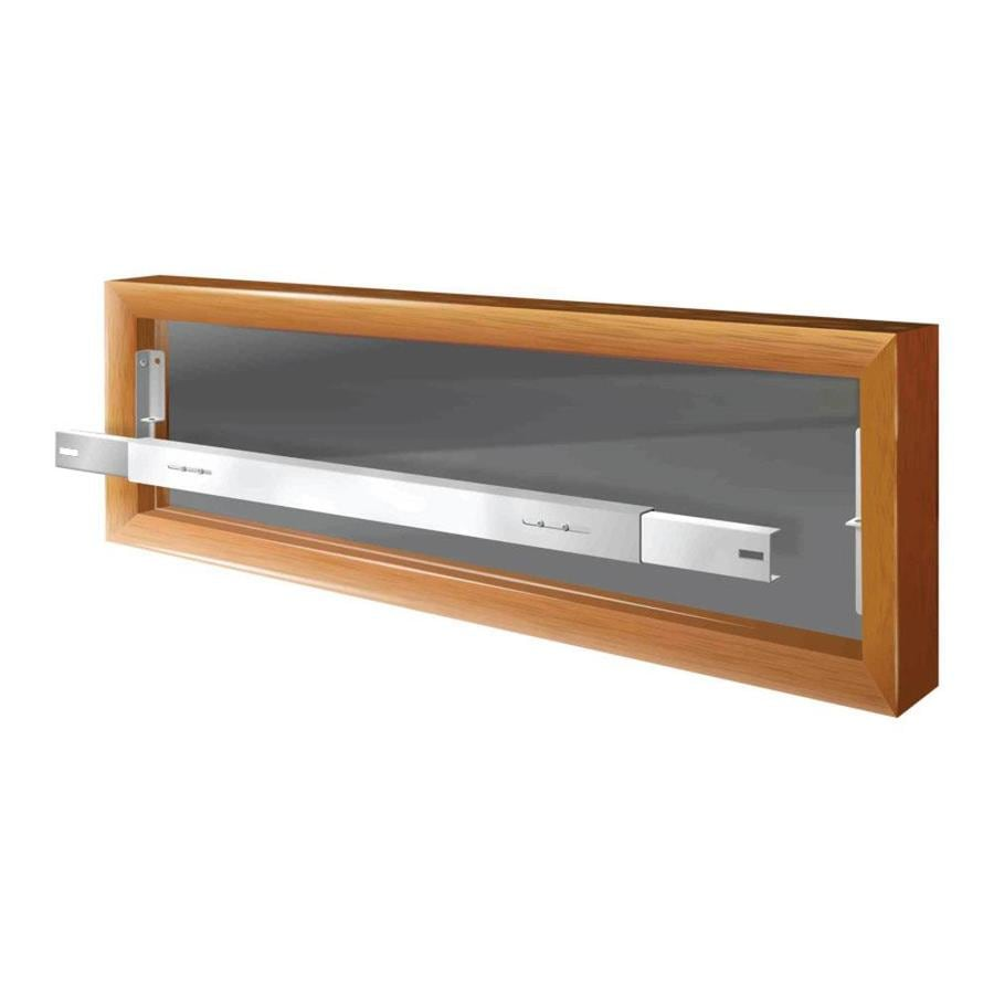 Mr. Goodbar A 42-in White Removable Window Security Bar