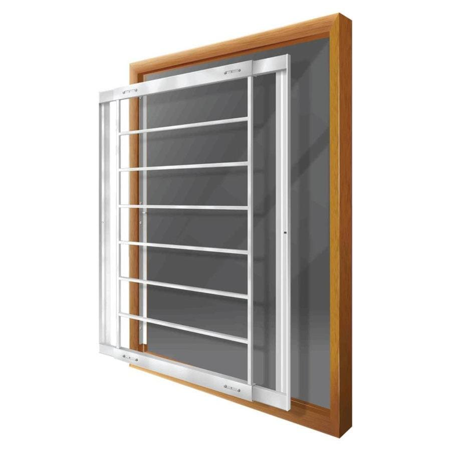 Home Depot Burglar Bars : Shop mr goodbar e in white removable bar