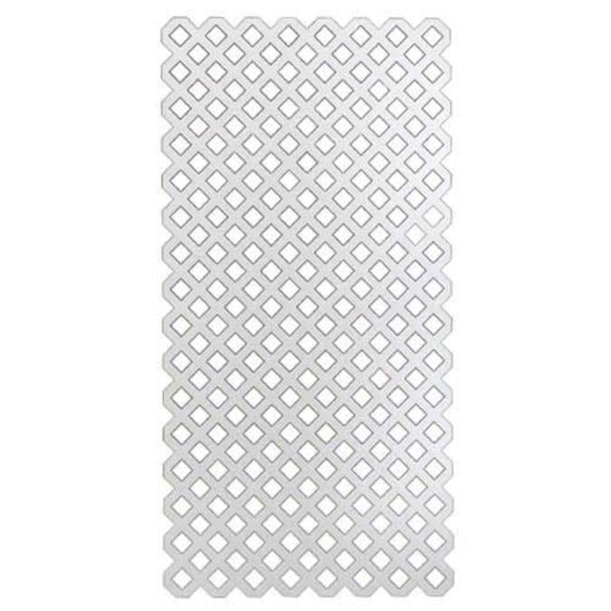 4' x 8' White Plastic Lattice Panel at Lowes.com