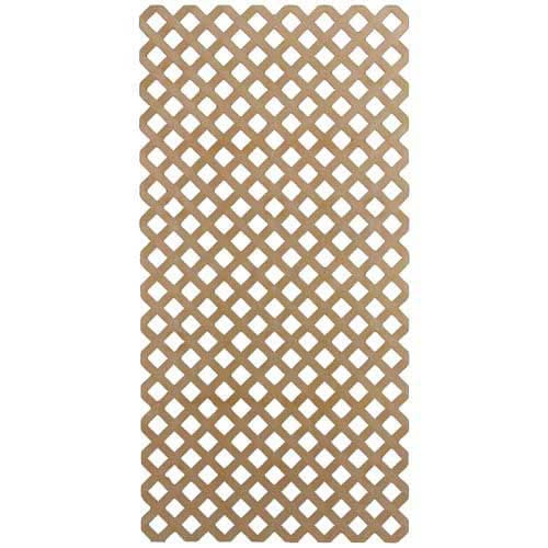 4' x 8' Plastic Lattice Panel Cedar