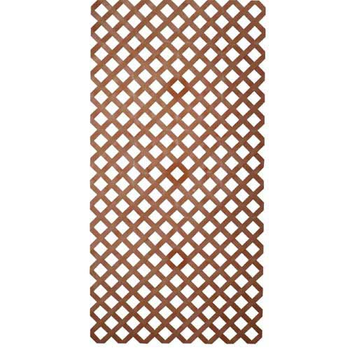 4' x 8' Plastic Lattice Panel Redwood