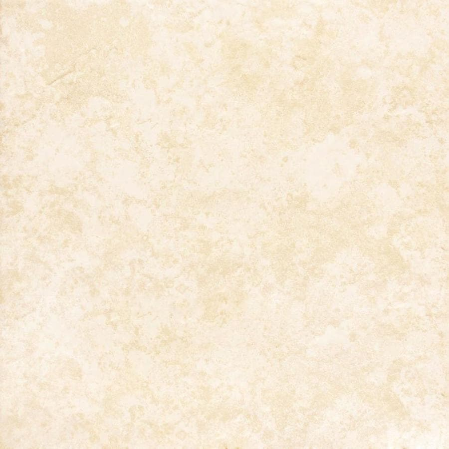 Shop Project Source Tiolo Beige Ceramic Floor Tile Common 16 In X 16