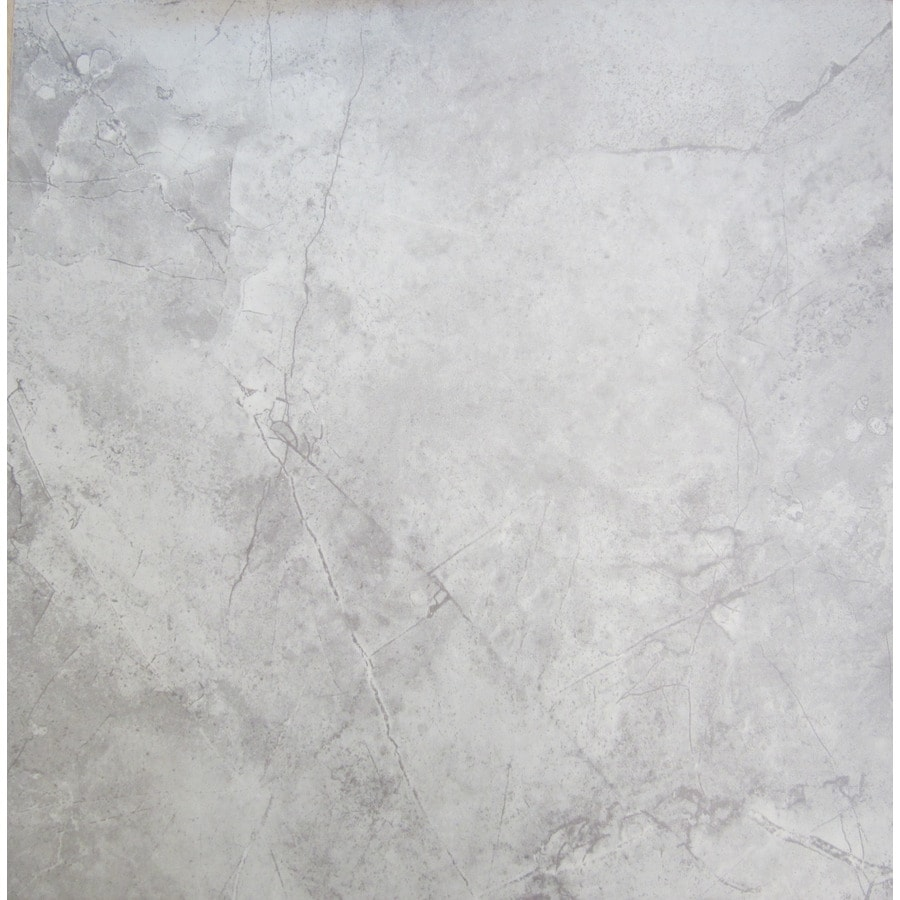 Shop Chilo Gray Ceramic Floor Tile Common 18 In X 18 In Actual