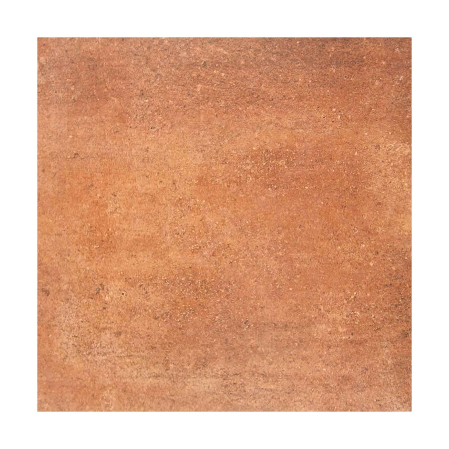 FLOORS 2000 Cotto 10-Pack Redish Orange Ceramic Floor and Wall Tile (Common: 18-in x 18-in; Actual: 17.74-in x 17.74-in)