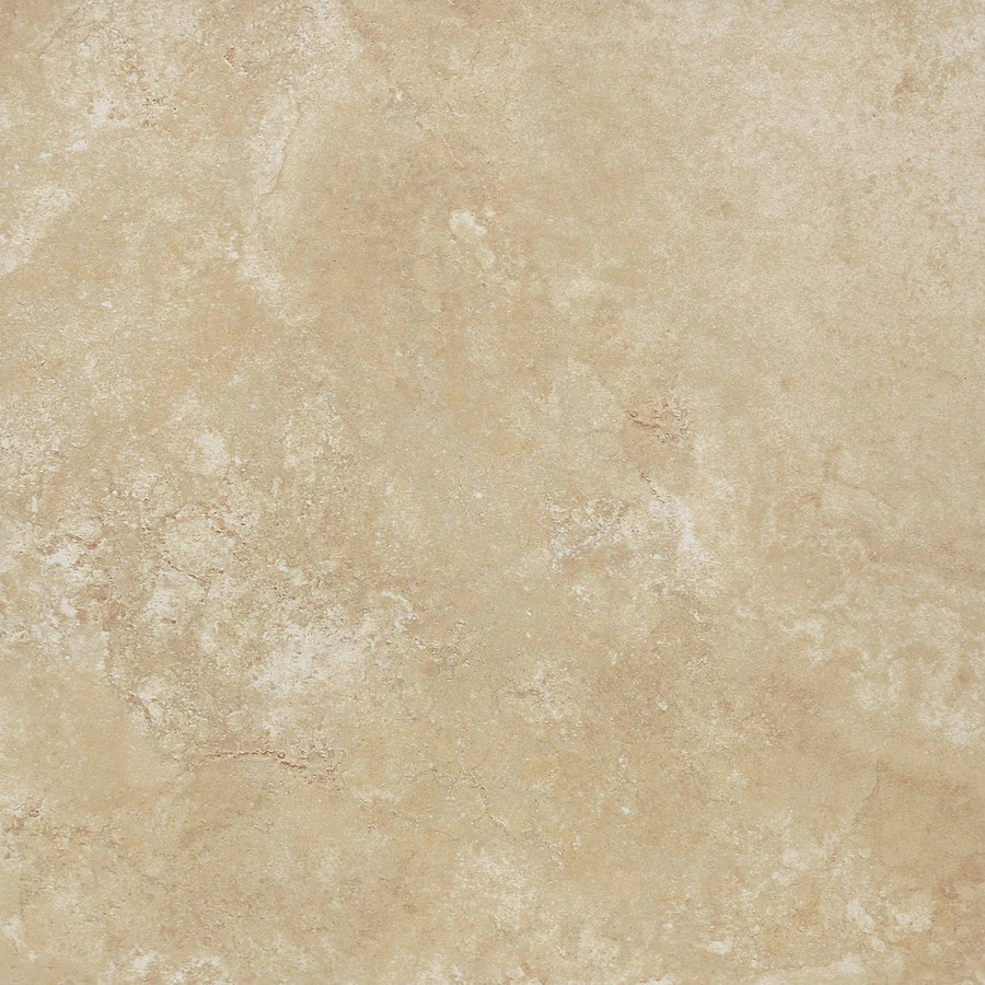 Novara Beige Ceramic Floor and Wall Tile (Common: 18-in x 18-in; Actual: 17.755-in x 17.755-in)