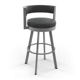 Amisco Browser Glossy Grey Counter Stool