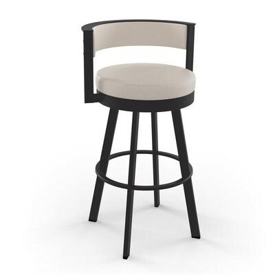 Pleasing Amisco Browser Beige Bar Stool At Lowes Com Uwap Interior Chair Design Uwaporg