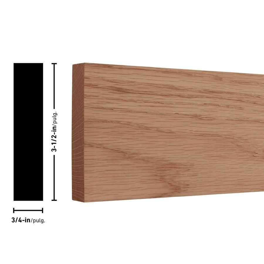 (Common: 1-in x 4-in x 6-ft; Actual: 0.75-in x 3.5-in x 6-ft) Red Oak Board