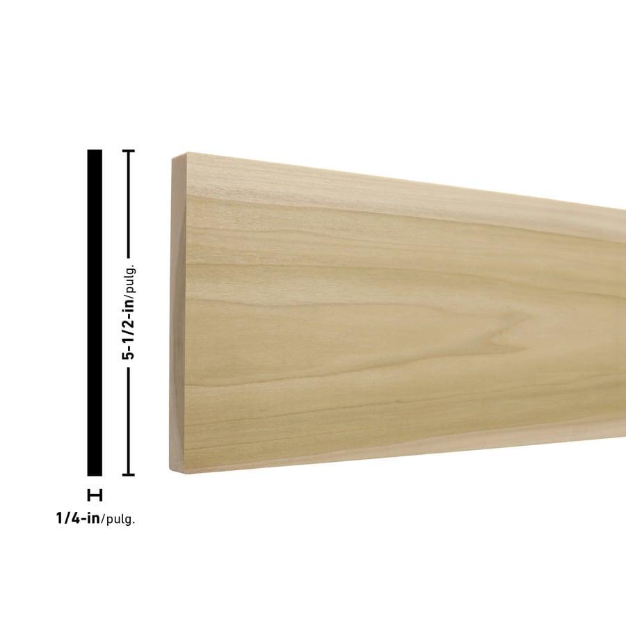 Poplar Board (Common: 1/4-in x 6-in x 4-ft; Actual: 0.25-in x 5.5-in x 4-ft)