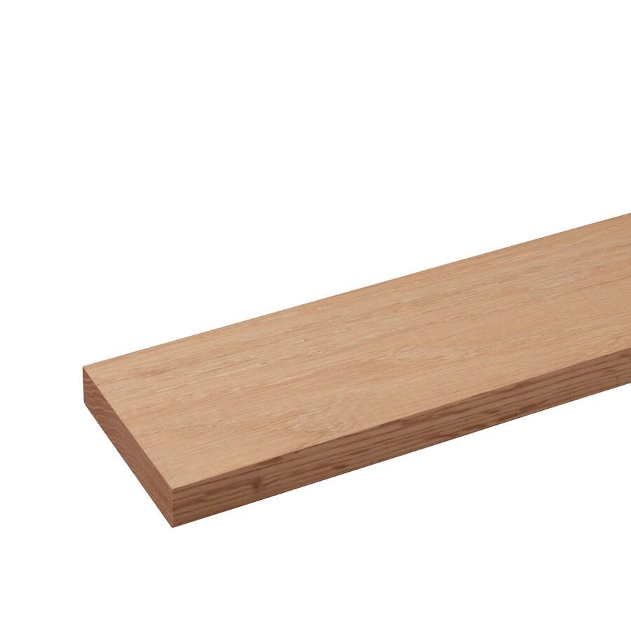 (Common: 1/2-in x 4-in x 4-ft; Actual: 0.43-in x 3.5-in x 4-ft) Oak Board