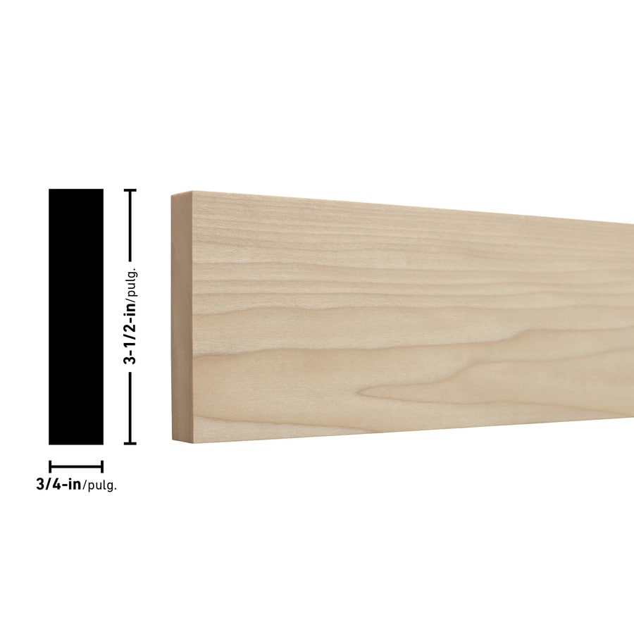 Poplar Board (Common: 3/4-in x 4-in x 10-ft; Actual: 0.75-in x 3.5-in x 10-ft)