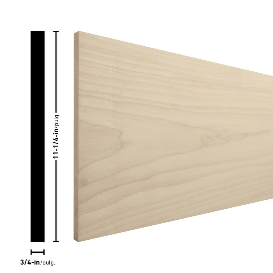 (Common: 1-in x 12-in x 4-ft; Actual: 0.75-in x 11.25-in x 4-ft) Poplar Board