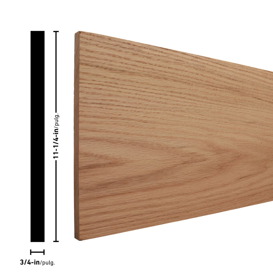 (Common: 1-in x 12-in x 2-ft; Actual: 0.75-in x 11.25-in x 2-ft) Red Oak Board