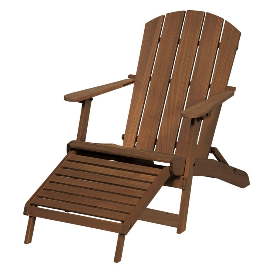 Shop Highland Gold Teak Folding Adirondack Chair at Lowes.com