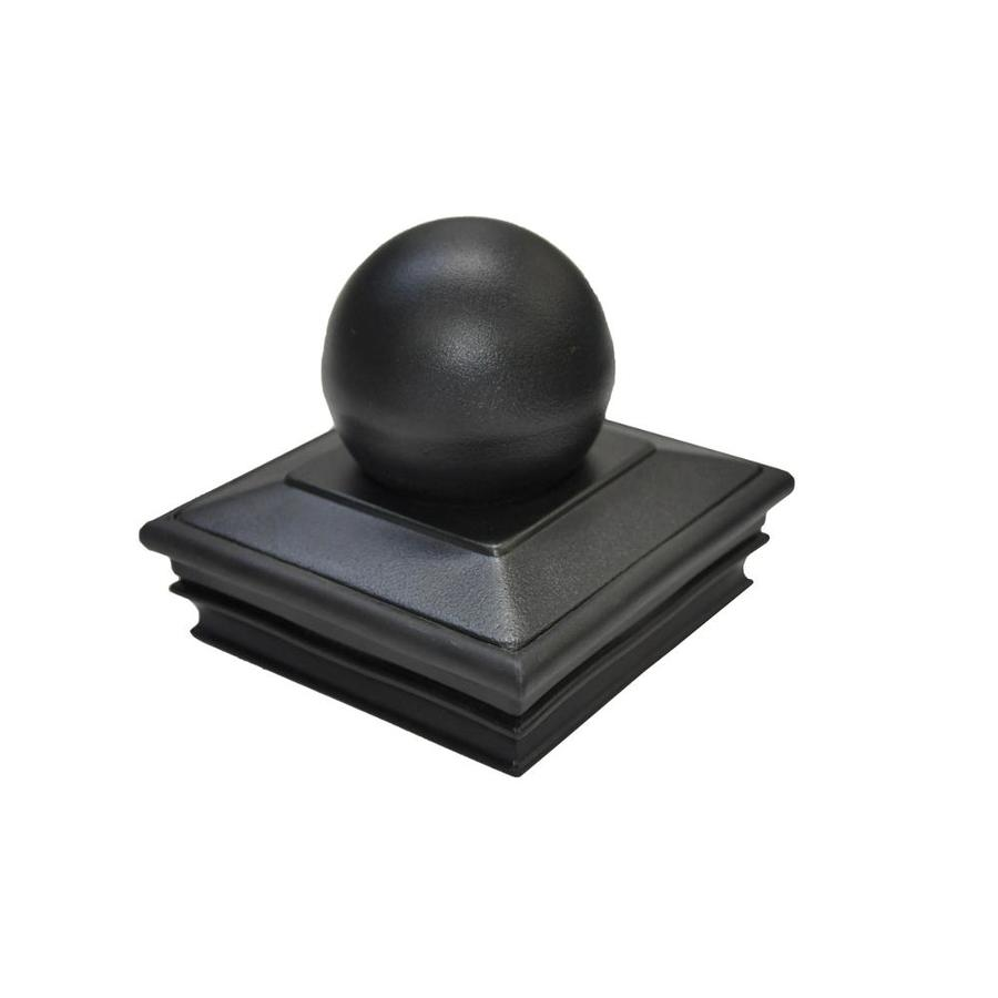 Regal (Fits Common Post Measurement: 4-in x 4-in; Actual: 4.5 x 4.75 x 4.75) Black Aluminum Deck Post Cap