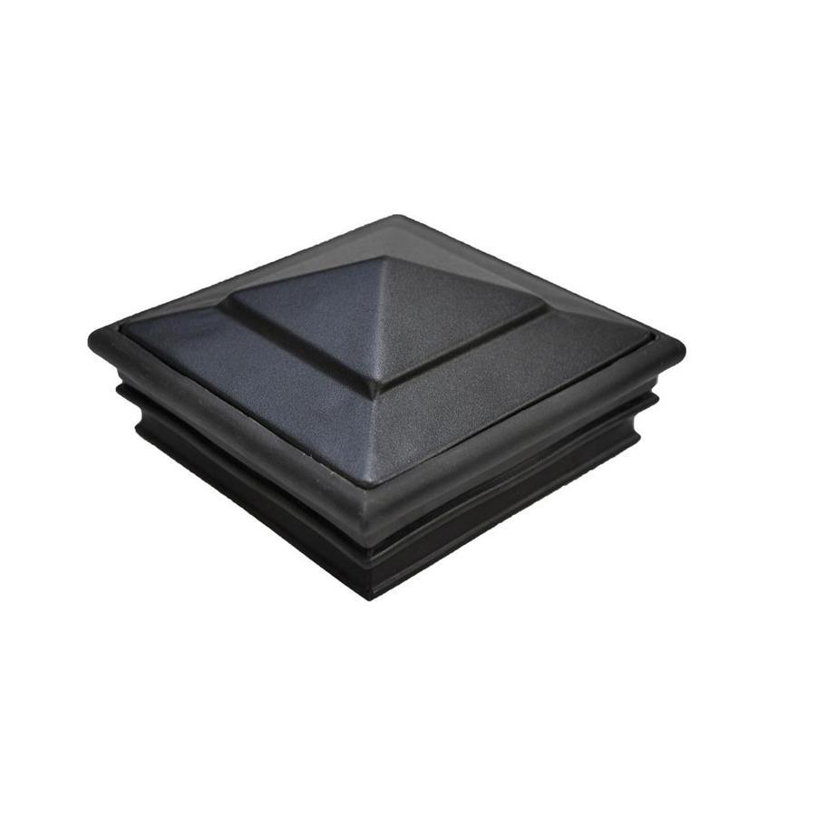 Regal (Fits Common Post Measurement: 4-in x 4-in; Actual: 2.75 x 4.75 x 4.75) Black Aluminum Deck Post Cap