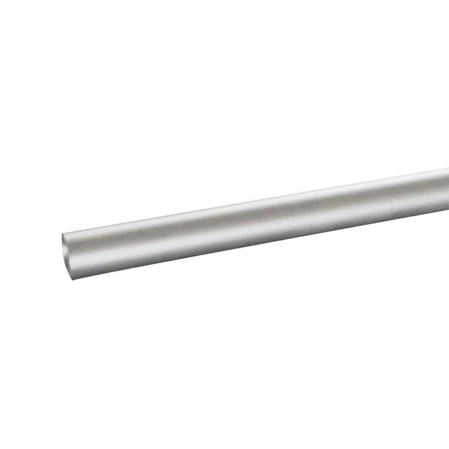 QuickKit (Actual: 1.52-in x 1.52-in x 96.06-ft) Satin Aluminum Universal Deck Rail