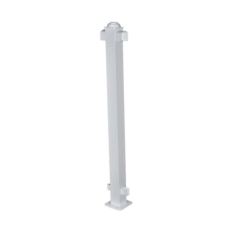Classic (Actual: 2.75-in x 2.75-in x 3.67-ft) White Aluminum Deck Post