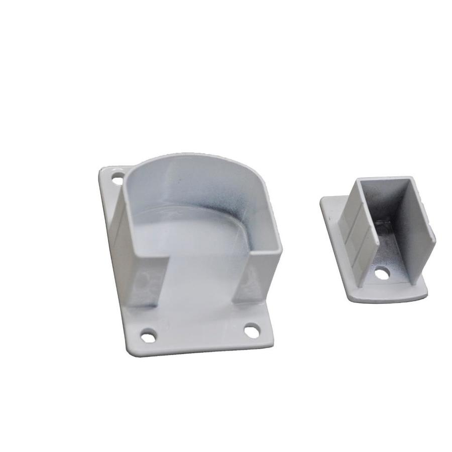 Classic (Actual: 1.3-in x 4.72-in x 7.09-ft) White Aluminum Deck Universal Rail