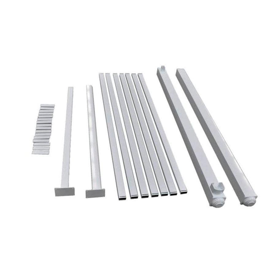 Classic White Aluminum Metal Fence Gate Hardware Kit