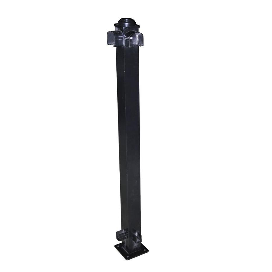 Classic (Actual: 2.75-in x 2.75-in x 3.67-ft) Black Aluminum Deck Post