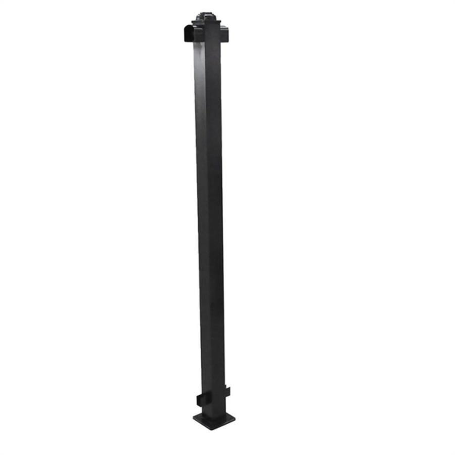 Classic (Actual: 2.75-in x 2.75-in x 3.67-ft) Black Aluminum Deck Post