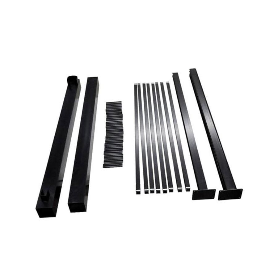 Classic Black Aluminum Metal Fence Gate Hardware Kit