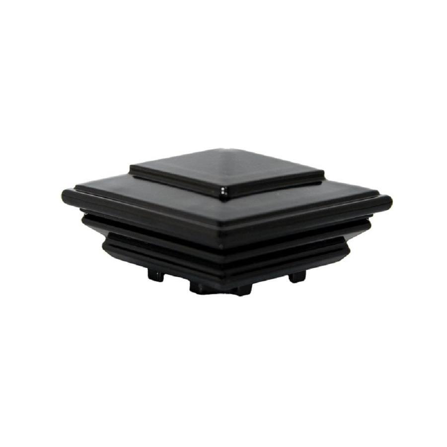 Regal (Fits Common Post Measurement: ; Actual: 2.75 x 4.25 x 7.0) Black Aluminum Deck Post Cap