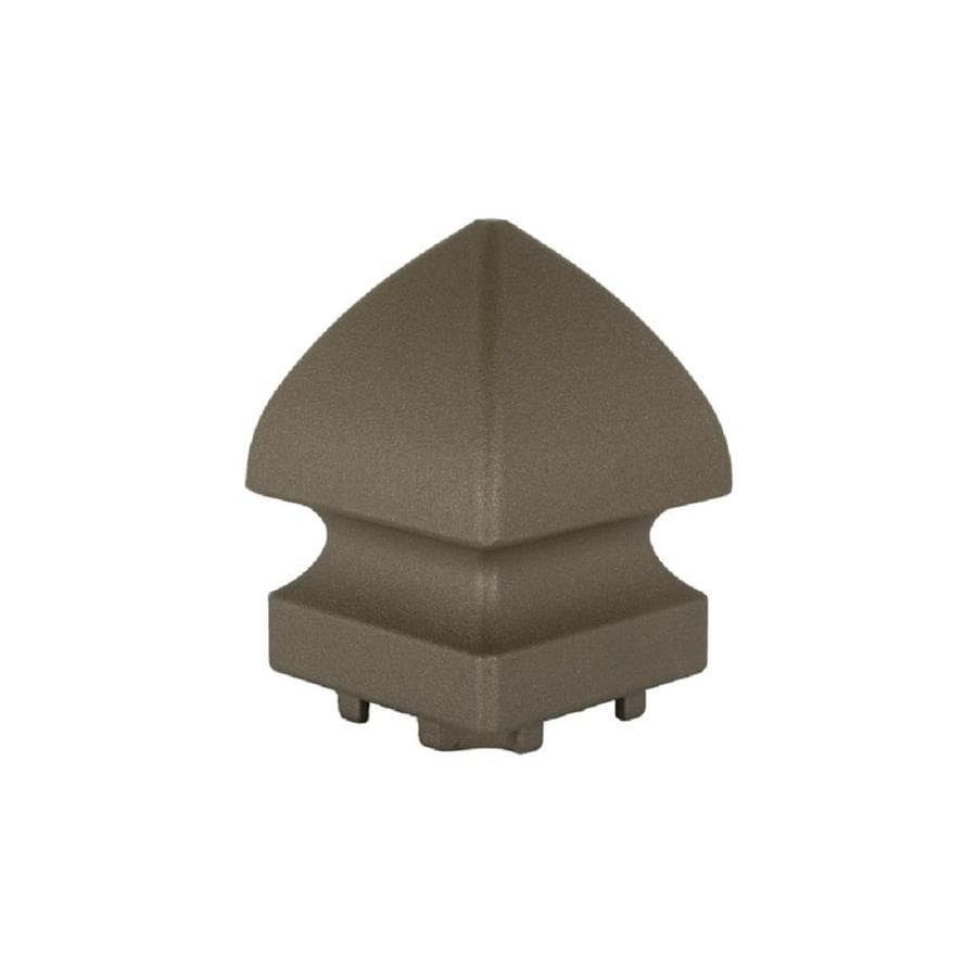 Classic (Actual: 1.75-in x 4.75-in x 7-in) Yard Bronze Aluminum Deck Post Cap