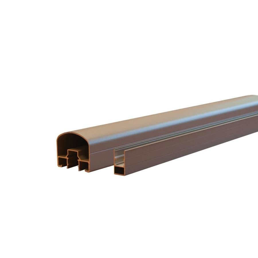 Classic (Actual: 2.56-in x 2.95-in x 69.88-ft) Taupe Aluminum Deck Universal Rail