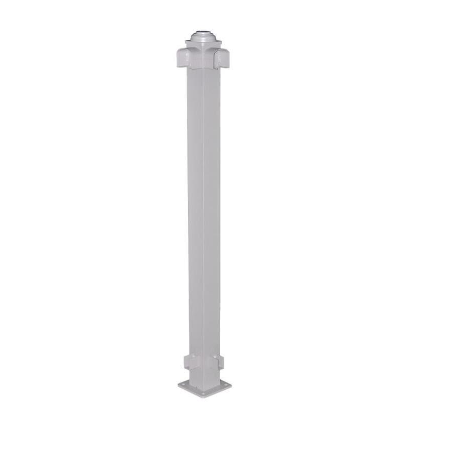 Classic (Actual: 2.75-in x 2.75-in x 3.67-ft) Taupe Aluminum Deck Post