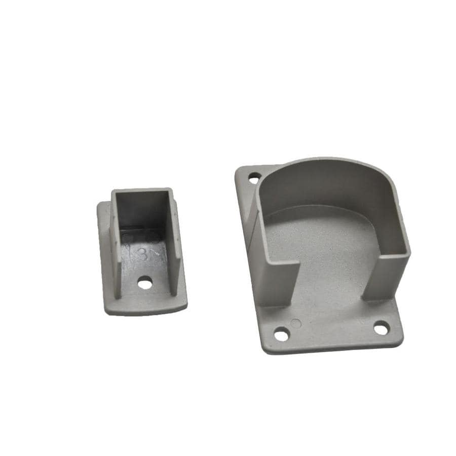 Classic 1-Piece Taupe Aluminum Metal Fence Wall Insert Bracket