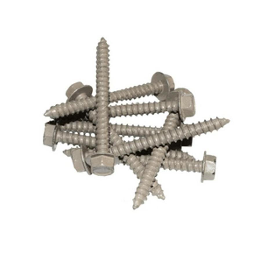 Classic 24-Count 1/4-in x 2.5-in Taupe Hex Landscape Screw