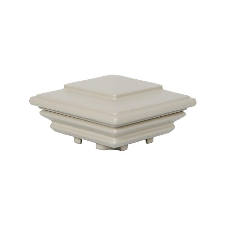 Classic (Actual: 2.75-in x 4.25-in x 7-in) Taupe Aluminum Deck Post Cap