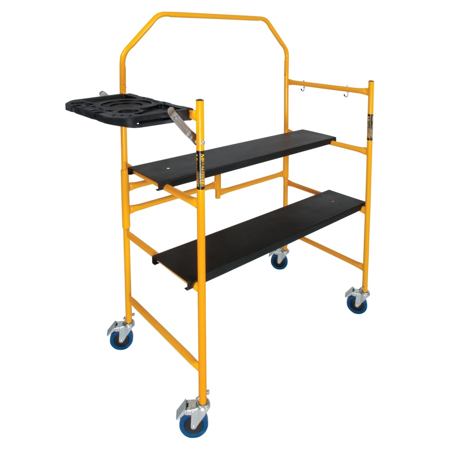 Portable Scaffolding Platform : Shop metaltech steel mini folding scaffold stepladder at