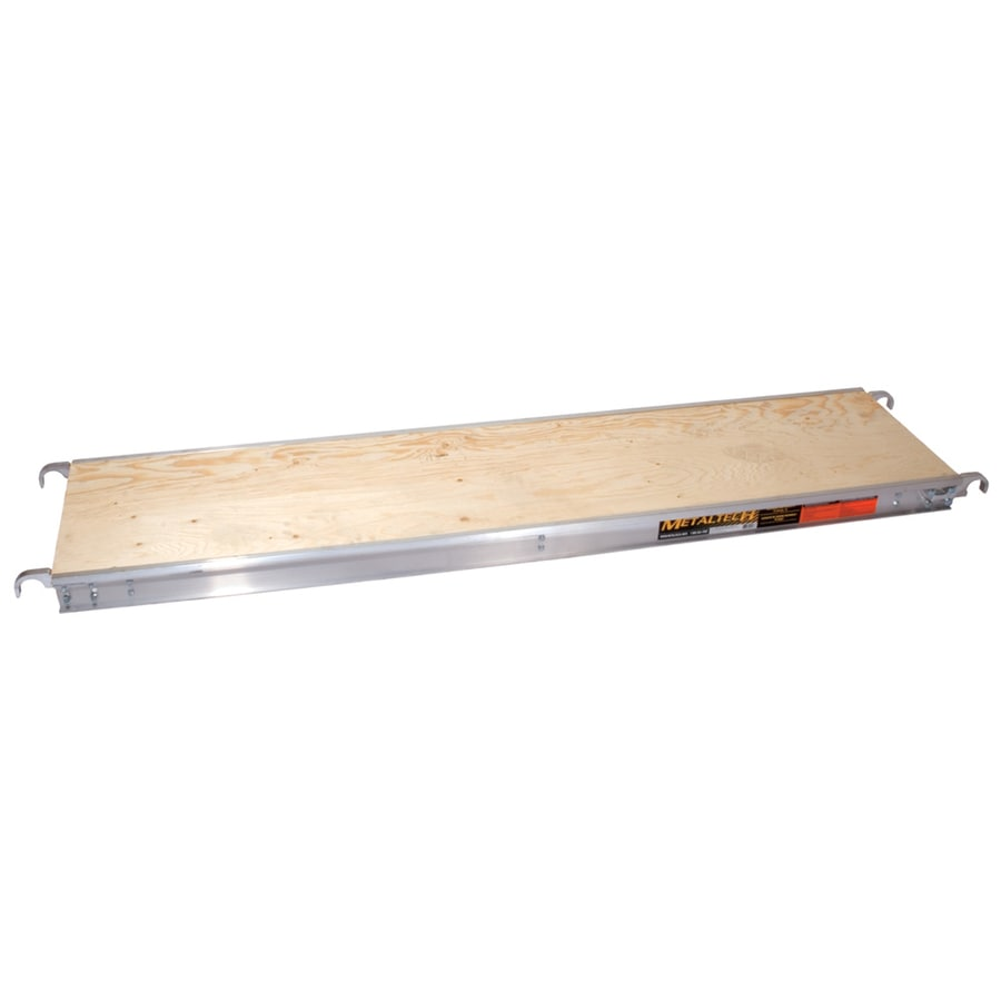 Metaltech 0.33-ft x 19-in x 4-in 830 lbs. Aluminum And Plywood Work Platform