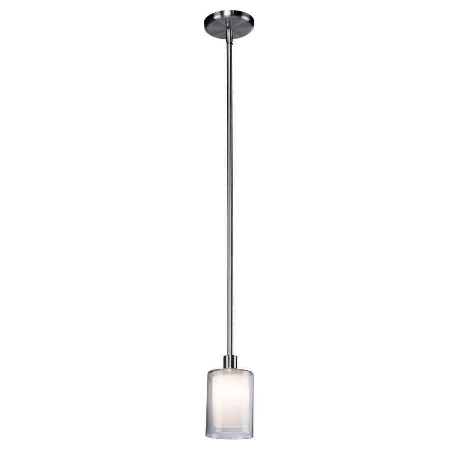 Artcraft Andover Polished Nickel Transitional Clear Glass Cylinder Mini Pendant Light In The Pendant Lighting Department At Lowes Com