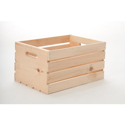 Crate 12 5 In W X 9 H 17 D Wood Bin