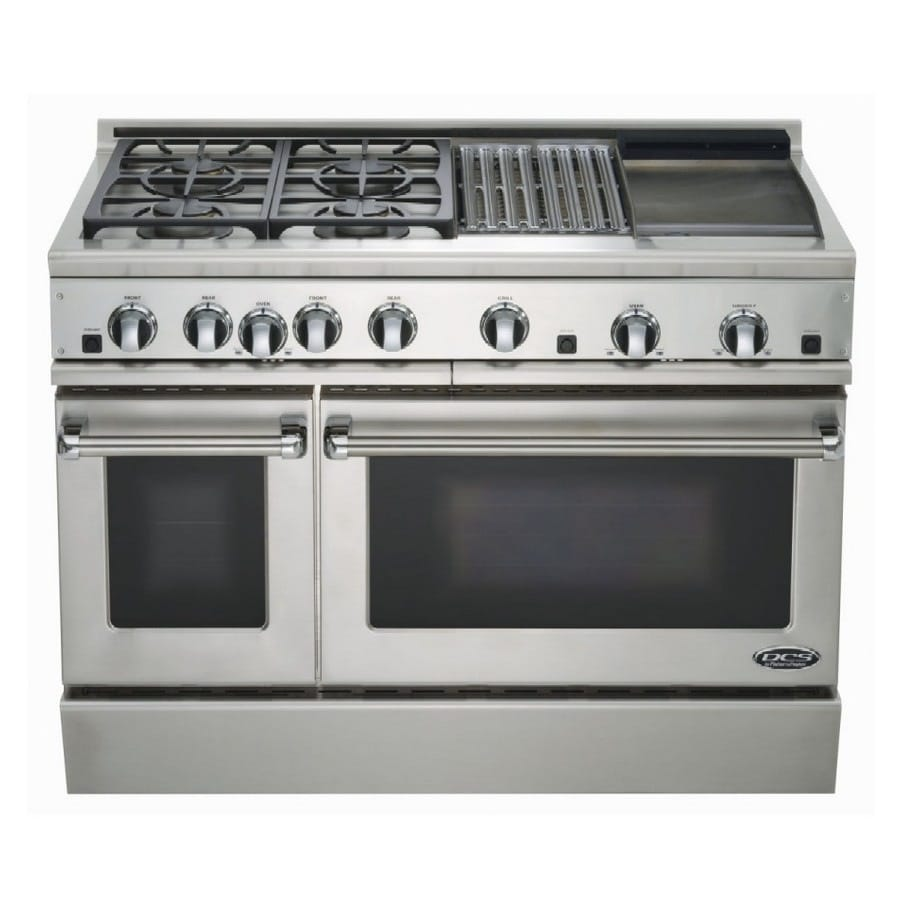 dcs by fisher u0026 paykel 48inch double oven gas range color stainless