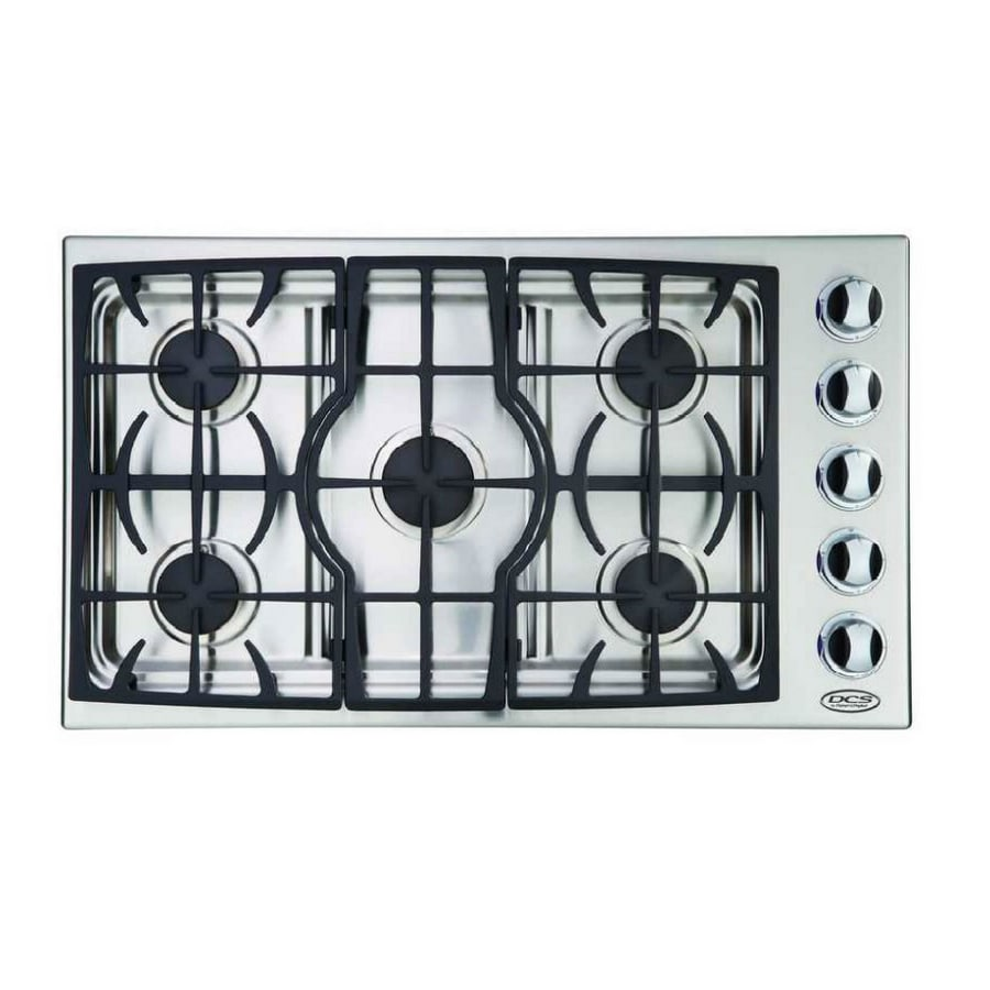 Lowes cooktops 36 inch - Dcs By Fisher Paykel 36 Inch 5 Burner Gas Cooktop Color